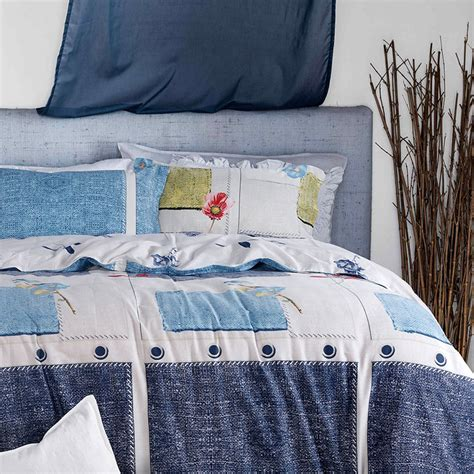 blue and white quilt sets glamorous white and blue cotton bedding set ebeddingsets