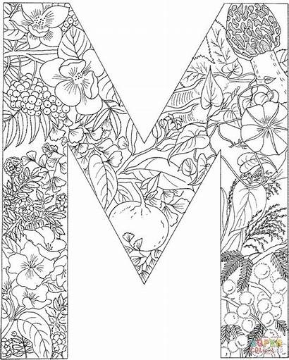 Coloring Letter Pages Printable Alphabet Adults