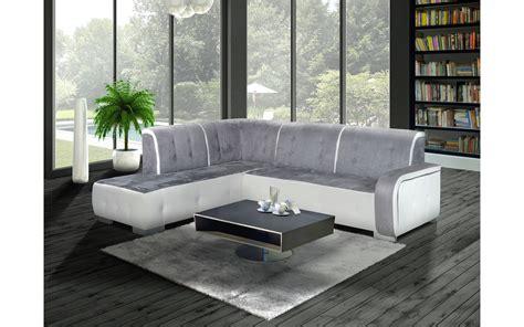 canapé d angle gris et blanc canapé d 39 angle gauche florida gris et blanc top déco