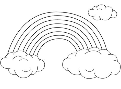 Free Printable Rainbow Coloring Pages For Rainbow Coloring Pages For Childrens Printable For Free