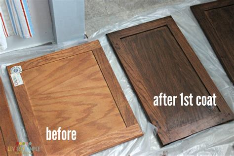 Gel Stain Cabinets Before And After by Java Gel Stain Kitchen Cabinets