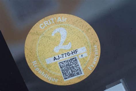 si鑒e auto obligatoire vignette pollution crit 39 air obligatoire à et ailleurs amendes la commander prix