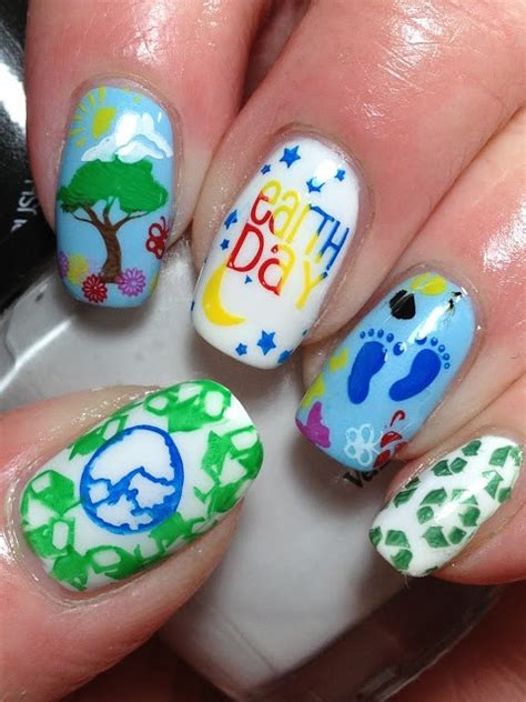 earth day nail art designs