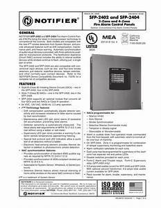 Notifier Sfp 2402 Manual
