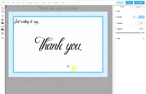 thank you card template indesign how to write a quot thank you quot card using lucid press free