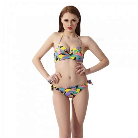 Two Pieces By Domiadream womens geometric printed two swimsuit