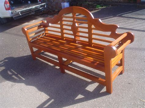lutyens bench outdoor garden furniture  wood joint