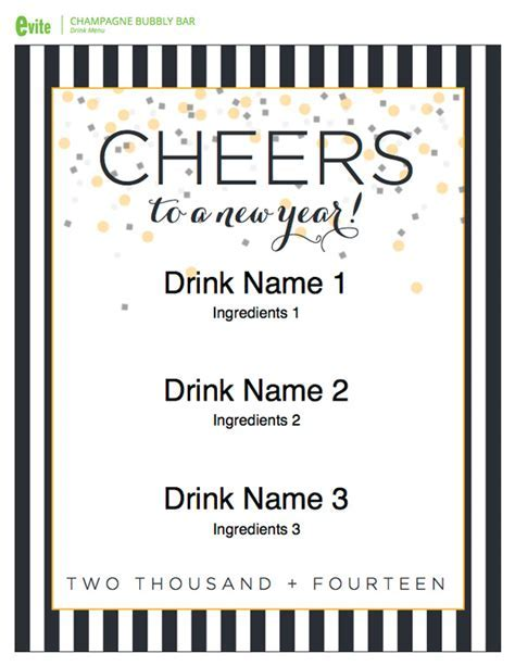 New Year's Eve Printables Evite