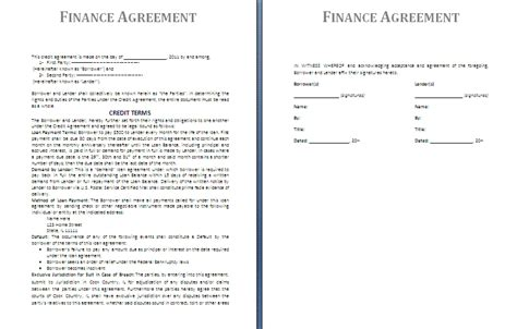 7 Agreement Templates Sles And Templates