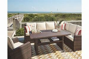 Salceda 4 Piece Outdoor Sectional Set By Ashley Furniture