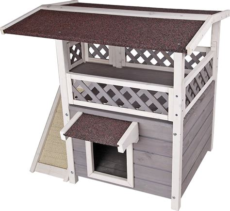 petsfit  story outdoor weatherproof cat house chewycom