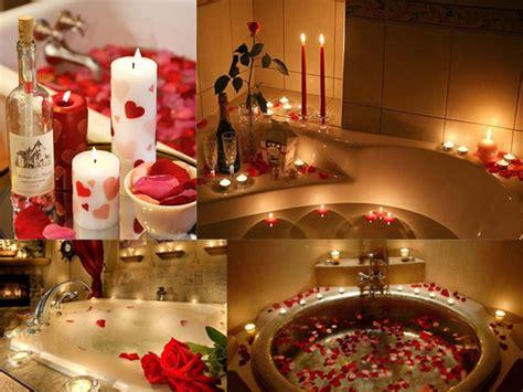 preparare  romantico bagno  san valentino