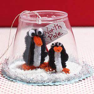 Christmas Craft Ideas Penguin Snow Globe
