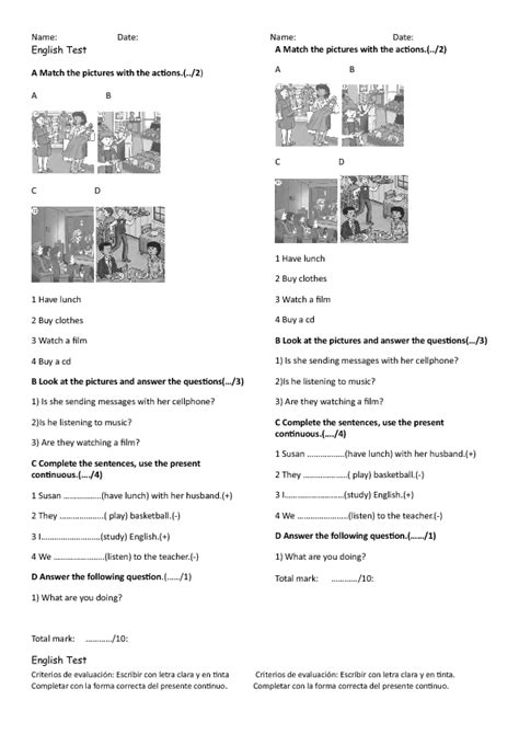 399 Present Continuous Worksheets And Lesson Plans Free And Teachertested
