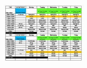 10 Team Schedule Template Master Schedule Template By Sessoms School Store Tpt