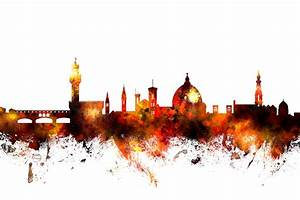 Florence Italy Skyline Digital Art by Michael Tompsett
