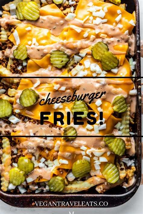 fries cheeseburger vegan beef ground cheese loaded french