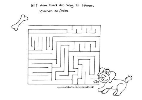 raetsel labyrinth nadines ausmalbilder