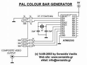 Avr Composite Pal Color Bar Generator