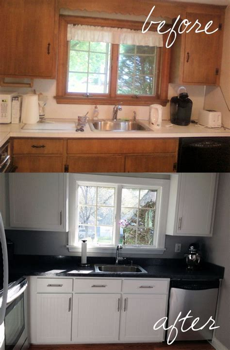 Home Depot Kitchen Before And After by Kitchen Cabinet Refacing The Process Bead Board