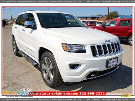 light brown jeep 2014 jeep grand cherokee overland 4x4 bright white