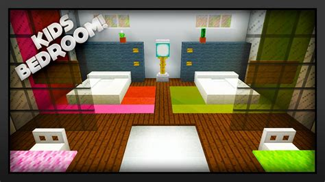 Minecraft  How To Make A Kids Bedroom Youtube