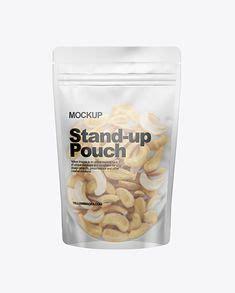 Plastic bag with tricolor pennoni rigati pasta mockup. Plastic Bag Stand Up Pouch Zipper Transparent Mock-up ...