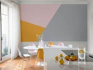 Peinture Mur Chambre : peinture des triangles sur mon mur ~ Voncanada.com Idées de Décoration