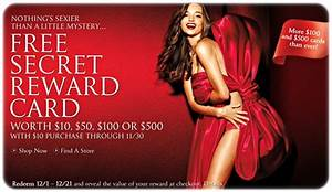 Hot Victoria's Secret sales! Get a secret reward card ...