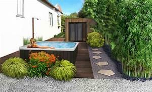 paysagiste amenagement paysager d39un spa exterieur 77 With photos amenagement jardin paysager 11 amenagement paysager amenagement exterieur enrobe