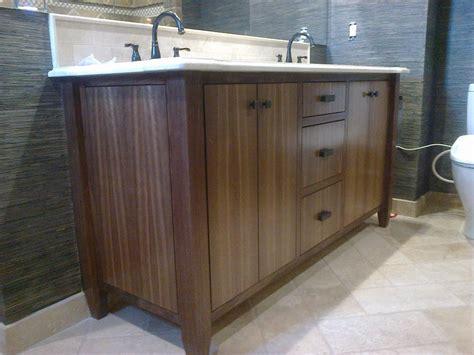 deep projection vanity light custom made modern walnut bath vanity by dennisbilt custom