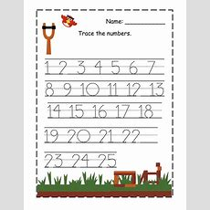 Printable Pictures Tracing Number Worksheets 1 To 25