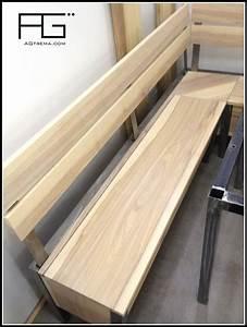 Banc Coffre Bois : banc de coin moderne coffre bois massif acier agtrema ~ Teatrodelosmanantiales.com Idées de Décoration