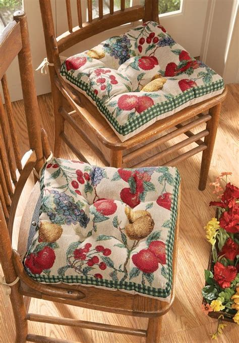 Kitchen Chair Cushions with Ties ? fel7.com