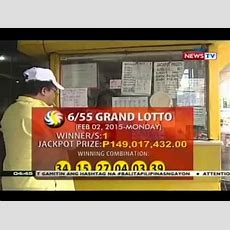 Bp Mahigit P149m Jackpot Prize Sa Grand Lotto, Solong