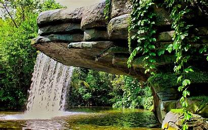 Waterfall Pond Landscape Vegetation 1920 1200 Wallpapers