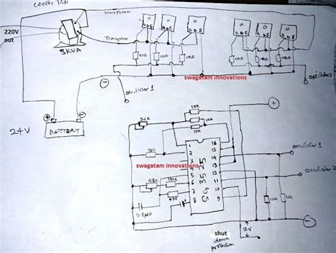 Circuit Schematic Sinewave Kva Inverter Using