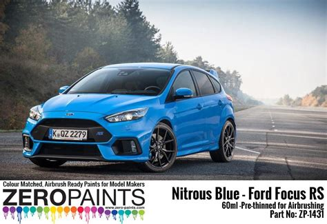 nitrous blue ford focus rs paint ml zp