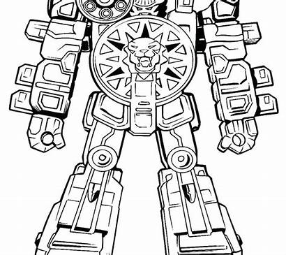 Megazord Power Coloring Rangers Pages Getcolorings Printable