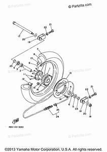 Yamaha Motorcycle 2003 Oem Parts Diagram For Rear Wheel