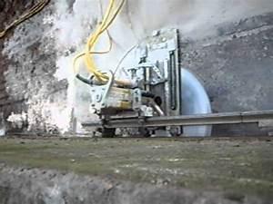 Scie A Beton : sciage de dalle avec scie a disque youtube ~ Melissatoandfro.com Idées de Décoration