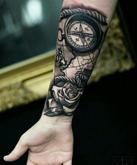 ideias sobre tatuagem bussola  pinterest compass