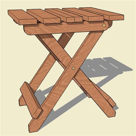 collapsible folding adirondack table plan jackman works