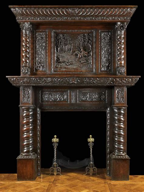jacobean style carved oak antique fireplace and antique fireplace mantels with mirrors antique