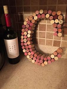 A wine cork letter that I made for my sister! #wine #corks ...