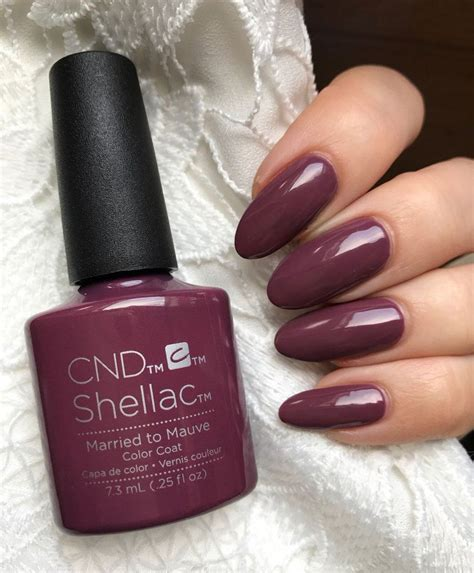 shellac nails colors cnd shellac married to mauve hair nails in 2019