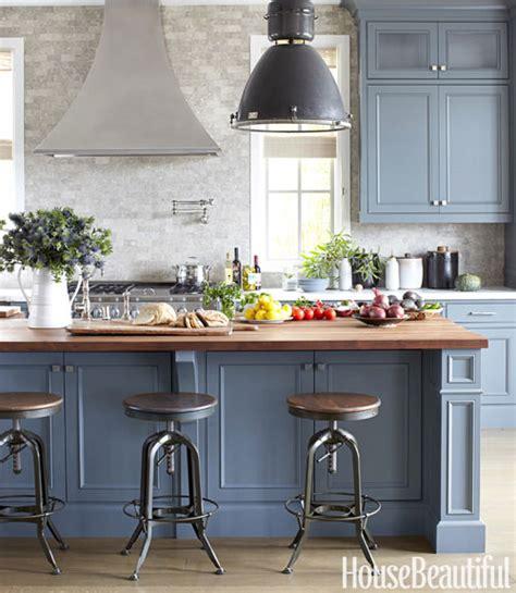 Blue Gray Cabinets  Contemporary  Kitchen Farrow