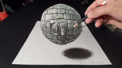 drawing  realistic stone sphere  dimension stone ball