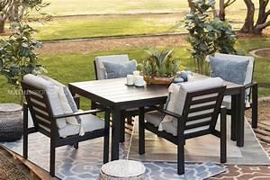 72, U0026quot, Modern, Aluminum, Patio, Dining, Table, In, Black