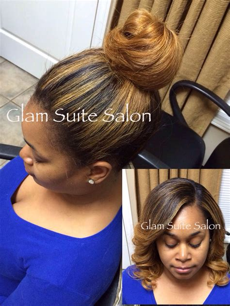 high bun view versatile sewin weave versatile sewin weave with minimal leave out hair